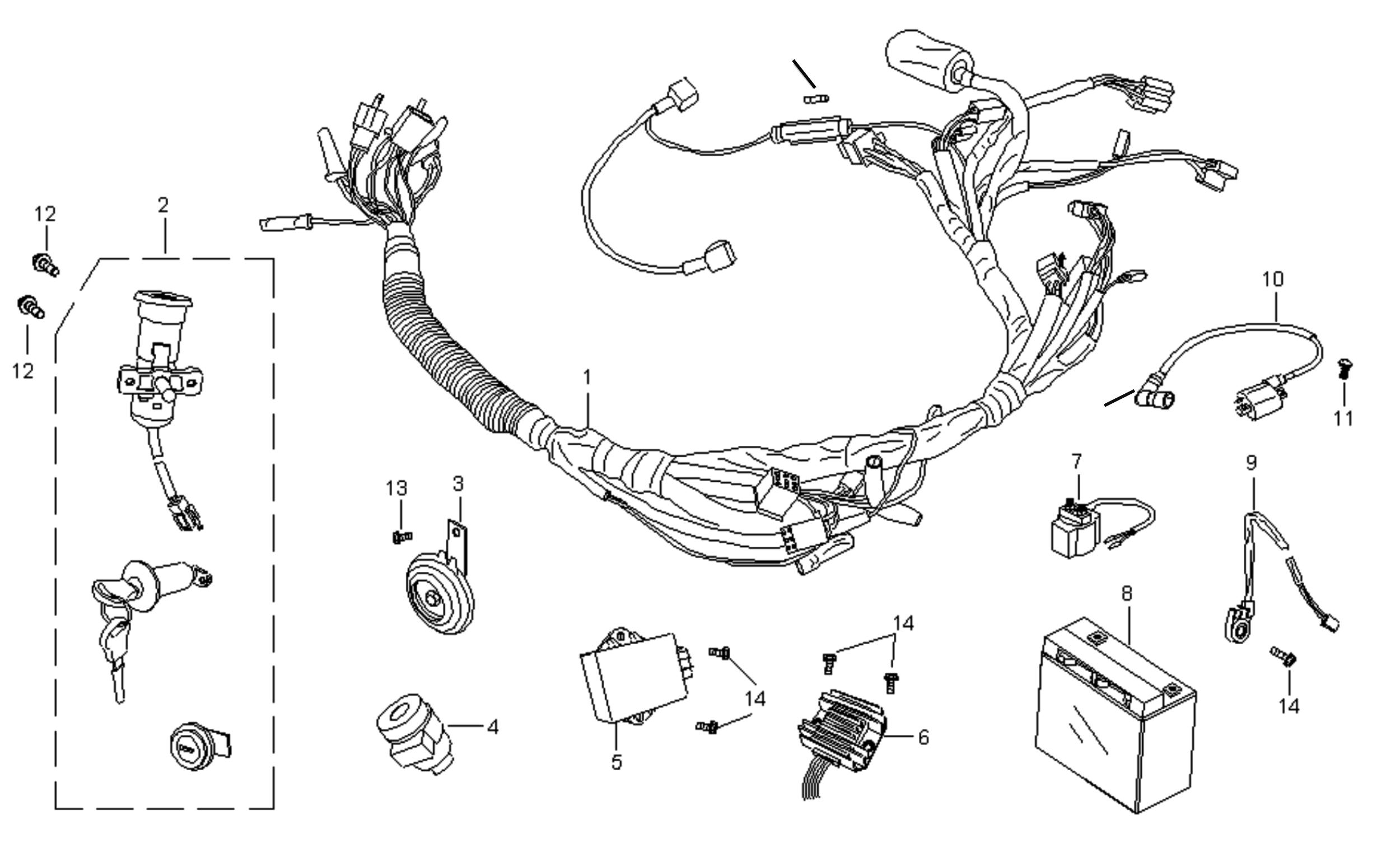 baotian ledningsnet komplet